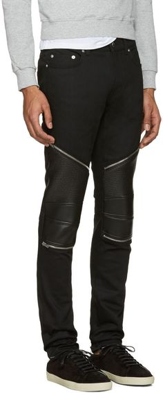 biker jeans - Blue Saint Laurent DuuT7qt