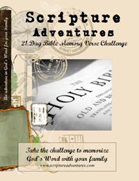 FREE 21 Day Memory Verse Challenge from Scripture Adventures