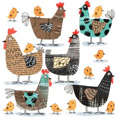 [New] The 10 Best Drawings Today (with Pictures) Chicken Illustration, Illustration Art, Farm Crafts, Chicken Art, Elementary Art, Bird Art, Collage Art, Zentangle, Art For Kids