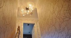 Add interest to #hallway #stairs #landing #wallpaper #neutrals #wood