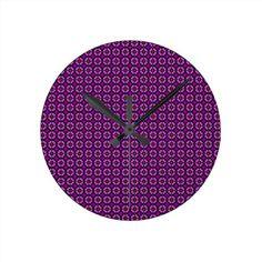 Dark Purple Round Wall Clocks!  #zazzle #store #pattern #gift #present #customize #simple http://www.zazzle.com/patternsbydww25921*