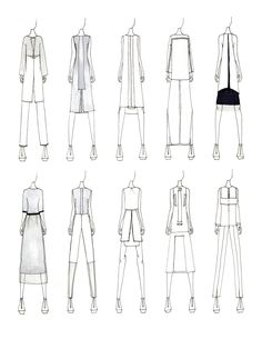 Fashion Sketchbook - fashion design sketches; fashion illustrations; collection development // Justine W. Lee