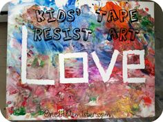 Kids' Tape Resist Art Project