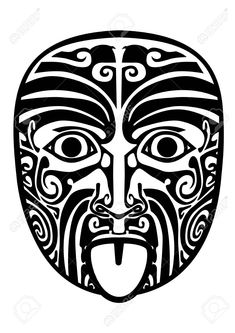 Maori Tiki Stock Photos And Images - Maori Face Tattoo, Maori Tattoo Meanings, Ta Moko Tattoo, Maori Symbols, Maori Tattoos, Borneo Tattoos, Tiki Tattoo, Hawaiian Tribal Tattoos, Samoan Tribal Tattoos