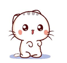 LINE Creators' Stickers - Wen small meow 5 Example with GIF Animation Cartoon Gifs, Cute Cartoon Wallpapers, Cute Cartoon Pictures, Cute Pictures, Cute Love Gif, Cute Love Cartoons, Puppy Face, Sanrio Characters, Funny Stickers
