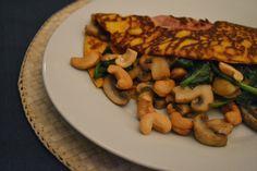 Mijn kookavonturen; Pompoenpannenkoeken met champignons en spinazie