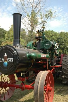 Here is a 1918 75hp Case steam engine