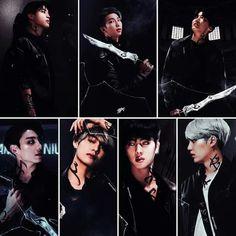 BTS as Shadowhunters Seokjin, Namjoon, Bts Taehyung, Bts Jimin, Yoonmin, Bts 2018, Foto Bts, Bts Vampire, Taekook