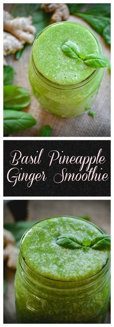This is a refreshing and super speedy basil smoothie you can whip up anytime you want a burst of energy. It's paleo, whole 30 approved with a vegan option.