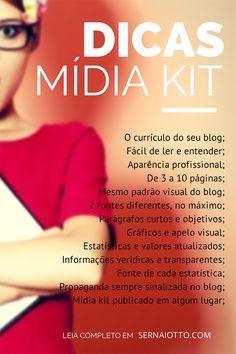 crie um mídia kit e baixe um modelo gratuito!