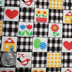 SALE ALMOST GONE Benartex House and Home  Black by FabricsBoutique, $7.95