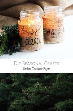 Create your own seasonal crafts using NuFun's transfer paper!