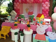 Happy Party, Happy Birthday Parties, Theme Parties, Aniversario Peppa Pig, Little Man Party, Pokemon Party, Pig Birthday, Pig Party, Birthday Balloons