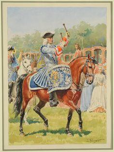 TIMBALIER DES GARDES DU CORPS DU ROI EN GRANDE TENUE, ANCIENNE MONARCHIE, by Lucien Rousselot.