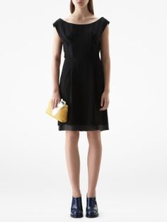 Betty Fluid 2212 Modern Wiggle Dress by Acne...and did you notice there's a yellow clutch?