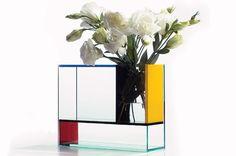 Mondrian vase by Frank Kerdil
