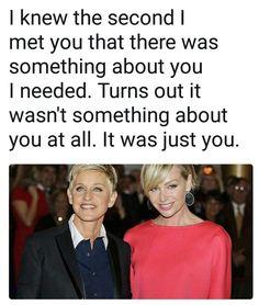 Ellen Degeneres And Portia, Ellen And Portia, Ellen Degeneres Quotes, Portia De Rossi, Comedians, Writer, Beautiful Women, Couples, Awesome