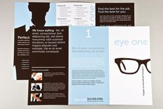 trifold brochure in brown and blue for an employment agency Brochure Design Samples, Brochure Sample, Brochure Layout, Brochure Template, Picture Layouts, Viral Marketing, Marketing Materials, Creative Design, Brochures