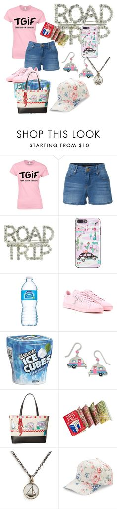 """""""TGIF!!Road trip!"""" by oneatwphogeebaby ❤ liked on Polyvore featuring LE3NO, Kate Spade, Tod's, Sienna Sky, Chart Metal Works and BCBGeneration"""