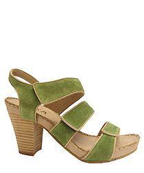 Dila Suede Sandals in Green Sale - Esska Sale..