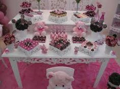 Two tables baby shower lollies table