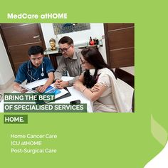 Our highly experienced medical professionals provide you with timely care, right at the comfort of your home.