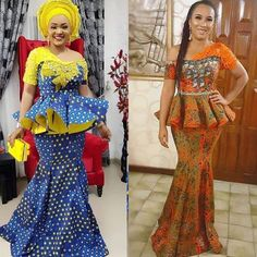 19 Glamorous Ankara Styles - African Fashion Collection For Ladies 2020 Latest Ankara Dresses, African Lace Dresses, Latest African Fashion Dresses, African Dresses For Women, African Attire, Ankara Styles, Women's Fashion Dresses, African Skirt, Ankara Fashion