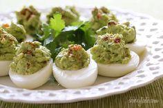 Guacamole Deviled Eggs from Skinnytaste