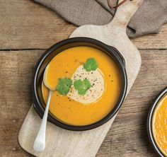 Smokey Roast Pumpkin Soup with Parmesan Toasts | We Are What We Eat