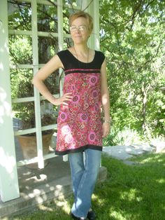 refashioned skirt into a shirt. this is a good idea for a cute dress to wear with tights and boots.