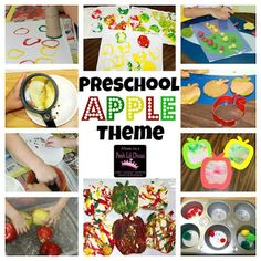 Mom to 2 Posh Lil Divas: Preschool Apple Week - Crafts, Activities & Books