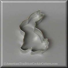"""3.25"""" Sitting Bunny Metal Cookie Cutter"""