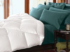 Best rated for down alternative - Cuddledown Damask Stripe Synthetic Comforter Level 1 Item #1924 - GoodHousekeeping.com