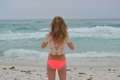 @Kimberly Motsch, I know you LOVE neon and it looks so great on you! neon swimsuit with lace cover up