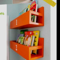 Diy nursery book case