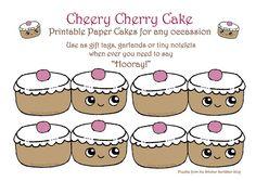 Cherry cake printables