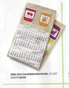 Good morning! Check out Vera's 2014 Calendar Dishtowel now available at Crate and Barrel! It's available in stores and online at http://www.crateandbarrel.com/vera-neumann-2014-calendar-dishtowel/s129933 So, pick up a few-they'll make great holiday gifts!