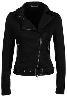 Patrizia Pepe Denim jacket and other apparel, accessories and trends. Browse and shop 21 related looks. Look Fashion, Fashion Outfits, Womens Fashion, Modest Fashion, Looks Black, Outerwear Women, Outerwear Jackets, Sweater Jacket, Black Denim