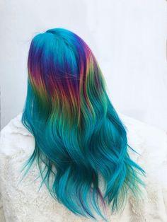 Naturally Straight, Gorgeous Hair Color, Halo Hair, Aqua Marine, Rainbow Hair, Color 2, Layered Hair, Hair Dye, Blue Hair