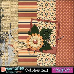 FREE Triple J Designs: MyMemories October 2016 Blog Train
