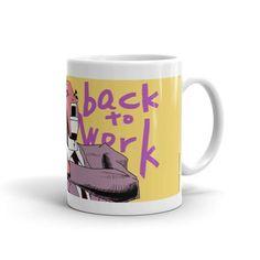 Get Back to Work Buisness Fish Mug front