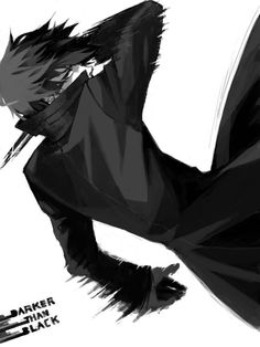 Animated black out of Hei from Darker Than Black