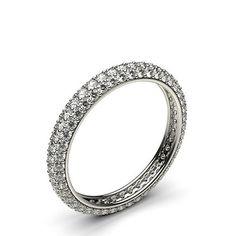 Buy Pave Setting Full Eternity Diamond Ring Online UK - Diamonds Factory