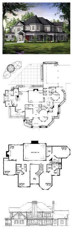 DesertRose,;;Victorian Style COOL House Plan ID: chp-19860 | Total Living Area: 4826 sq. ft., 5 bedrooms & 4.5 bathrooms. Amazing floor plan!,;,