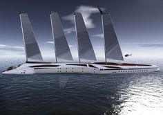 Albatross yacht is a mega yacht that also features two skimmer boats that are always ready to sail independently. This concept yacht takes privacy and Yacht Design, Boat Design, Jet Ski, Cool Boats, Small Boats, Float Your Boat, Nautical Design, Yacht Boat, Futuristic Design