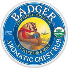 Badger Balm Aromatic Chest Rub A healthier Vix Vapo Rub. All of the products in this line are effective and natural.
