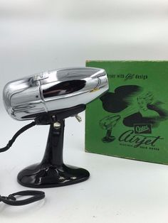 Oster Airjet Vtg Midcentury Airplane Engine Look Hair Dryer 202 Original Box USA #Oster