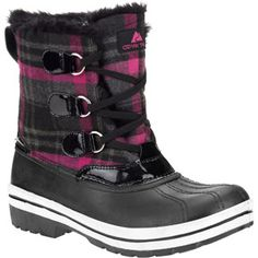 Ozark Trail Women's Markham Lace-Up Plaid Winter Boots