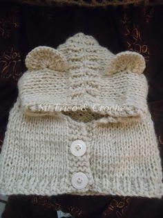 Baby Knitting Patterns, Baby Hats Knitting, Knitting For Kids, Knitting Projects, Hand Knitting, Knitted Hats, Crochet Patterns, Crochet Shawl, Crochet Baby