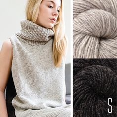 Julie Hoover might be my favorite knitwear designer out there and I'm dying to make this one :: Love that Knit-Purl has picked the yarn! Clever Camel!  Snowden Gray/Carbon, Small
